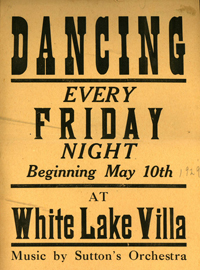 White Lake Villa Dance Poster